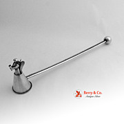 Candle Snuffer Angel Twist Ball Handle Sterling Silver 1950