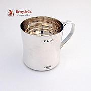 SALE PENDING Tiffany Co 1837 Baby Mug Sterling Silver 1980