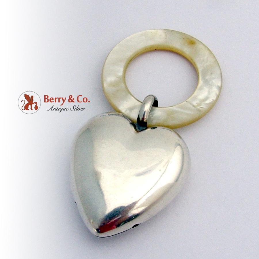 baby rattle teething ring sterling silver of