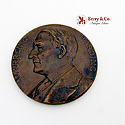 Warren G Harding Commemorative Medal Bronze 1923