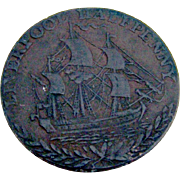British Lancanshire Halfpenny Token Copper 1791