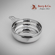 Elegant Porringer Baby Feeding Bowl Sterling Silver Dunkirk Silversmiths 1950