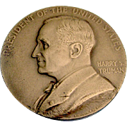 Harry S Truman Second Term Inaugural Medal Bronze US Mint 1945