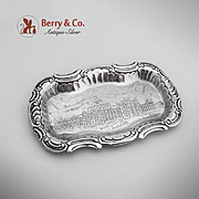 Columbian Exposition Government Building Souvenir Pin Tray Sterling Silver Towle 1893