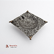 Hand Made Small Dish Mixed Metals Sterling Silver Copper Applied Bees Decorations Designer Eri