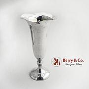 Trumpet Vase Sterling Silver Shreve and Co