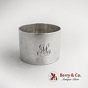 Napkin Ring Sterling Silver 1900 Monogram AC