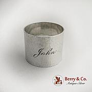 Arts and Crafts Napkin Ring Hand Hammered Baldwin 1930