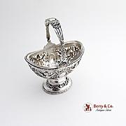 Small Basket Winged Cherub 800 Silver Hanau 1890-1910