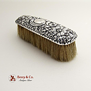 Repousse Clothes Brush Sterling Silver Gorham Silversmiths 1895