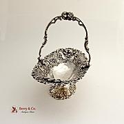 Ornate Swing Handle Basket 800 Silver 1890-1910