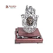Ornat Figurine Hand Wheat Grapes Birds Lion Mask Sterling Silver Luvaton