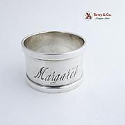 Napkin Ring Sterling Silver Gorham Silversmiths Margaret 1940
