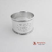 Coin Silver Napkin Ring Monogram Alice