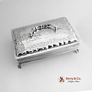 Antique Dutch Rectangular Box 833 Silver 1890
