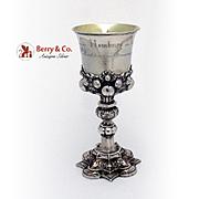 Antique Presentation Goblet 813 Silver Germany 1862