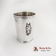 Julep Cup Beaker Horse Head Sterling Silver Benjamin Trees Kentucky
