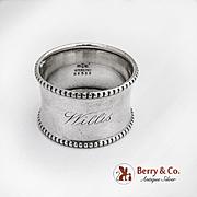 Beaded Napkin Ring Sterling Silver Gorham Silversmiths 1900