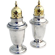 Vintage Buttercup Salt and Pepper Shakers Sterling Silver Gorham