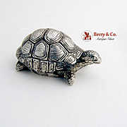 SOLD Vintage Turtle Figurine Sterling Silver Italy