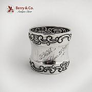 Strasbourg Napkin Ring Sterling Silver Gorham Silversmiths Dec 25 Inscription
