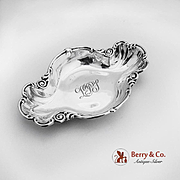 Ornate Oval Serving Bowl Sterling Silver Knowles 1900
