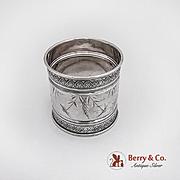 Aesthetic Napkin Ring Sterling Silver Gorham Silversmiths 1884