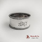 Beaded Napkin Ring Sterling Silver Blakinton Silversmiths 1900