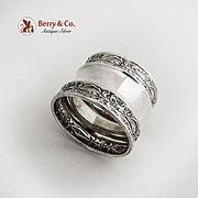 Embossed Napkin Ring Sterling Silver 1900