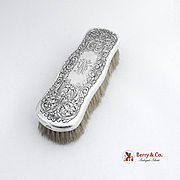 Acid Etched Clothes Brush Large Sterling Silver Gorham Silversmiths 1900