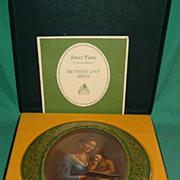 Pickard China Plate 24 KT Gold Trim Mothers Love Story Time Irene Spencer Original Box COA