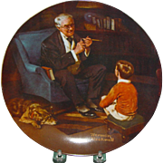 Norman Rockwell The Tycoon Plate 1982 Edwin Knowles Heritage Series