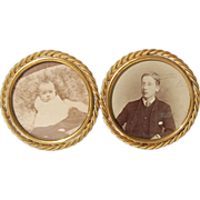 SOLD 1880's Double Brass Picture Photo Frame