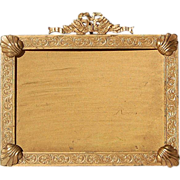 SOLD Antique Solid Brass 19th Century French Photo Frame