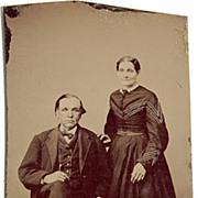 "SALE Victorian Tintype ""Smiling Couple"""