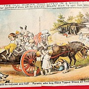 SOLD Victorian Trade Card A. S. T. Co. Black Tipped Shoe
