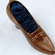 Victorian Figural Shoe Pin Cushion
