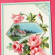 Embossed Beautiful Pink Rose Floral With Fond Love Post Card