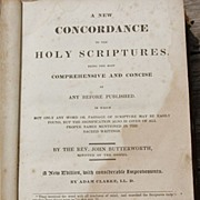 REDUCED Antique 1831 A New Concordance To The Holy Scriptures