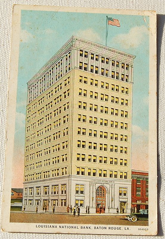 Vintage Postcard Louisiana National Bank Baton Rouge