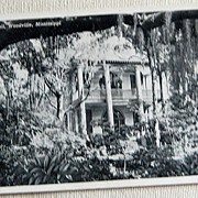 REDUCED Vintage Postcard Hampton Hall Woodville Mississippi