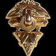 Vintage Gold Filled Dangle Brooch