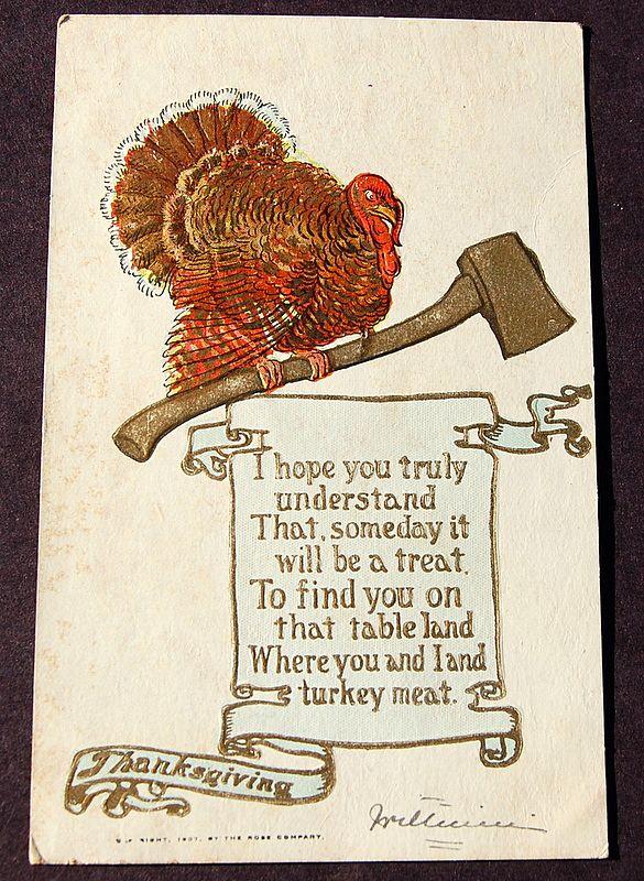 1907 Embossed Turkey Thanksgiving Post Card