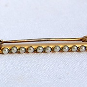 REDUCED Victorian Gold Filled Pearl Pin
