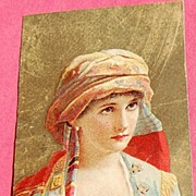 SALE Victorian Color Lithograph Trade Card Dr. Thomas' Eclectric Oil