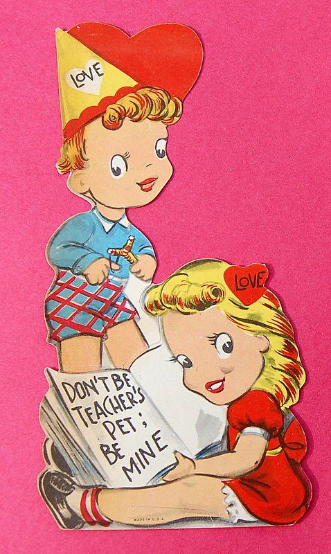 Vintage 1940's Valentine Card