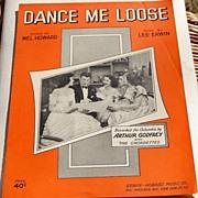 SALE 1951 Vintage Sheet Music Dance Me Loose Arthur Godfrey