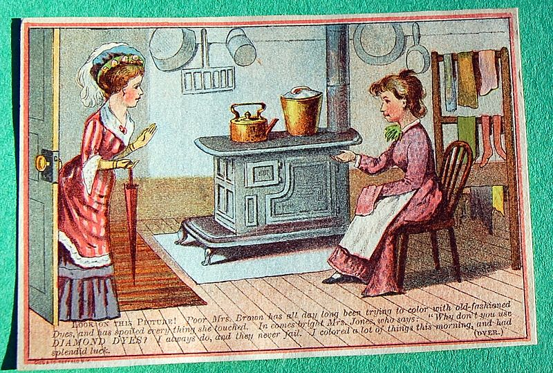 Antique Diamond Dyes Trade Card