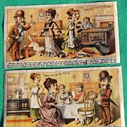 SOLD Rising Sun Stove Polish Victorian Trade Card