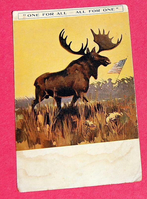 World War 1 Solder's Post Card Paris Loyal Order of Moose